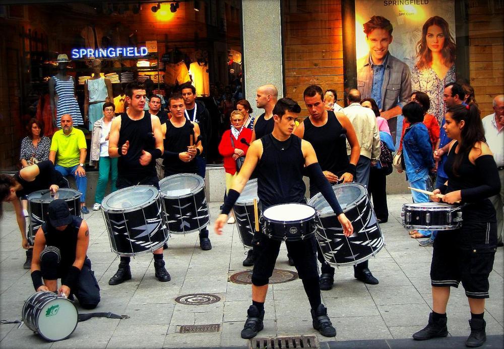 tambores...