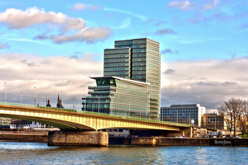 Fluss Köln Rhein Germany Köln architecture bridge