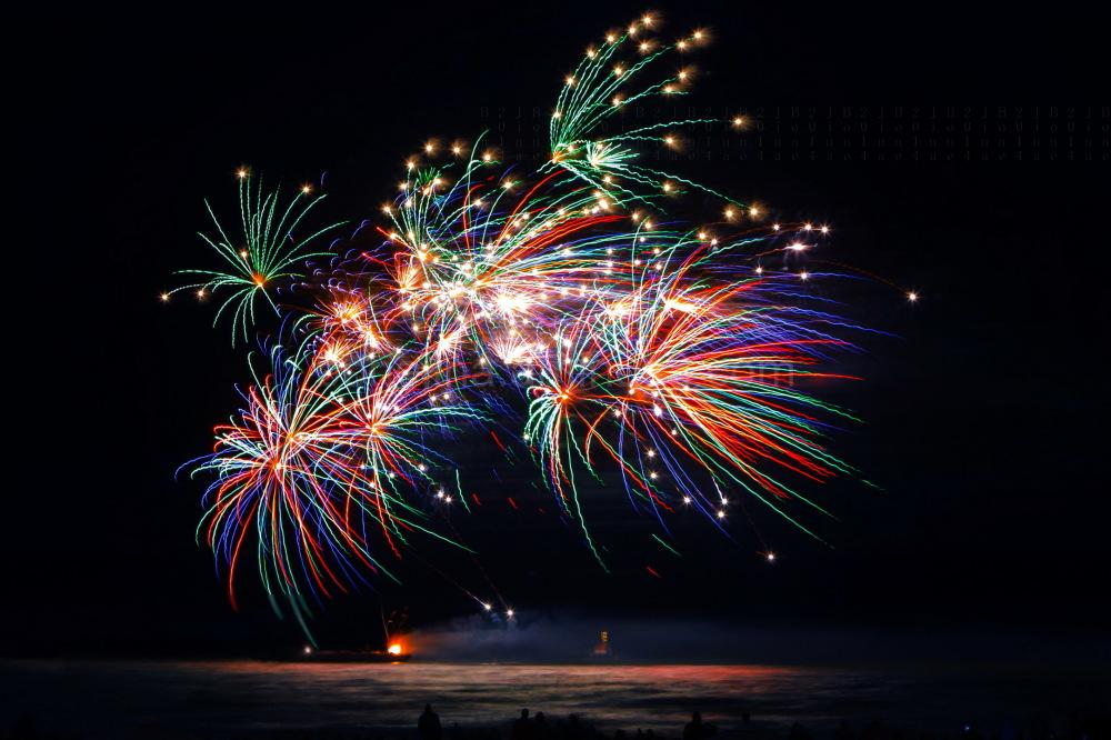 Spiel des Feuerwerks