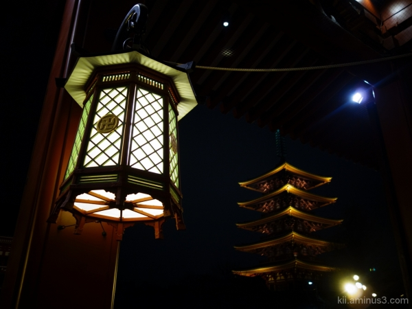 Lantern at night