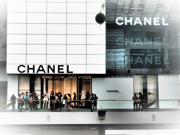 In front of CHANEL