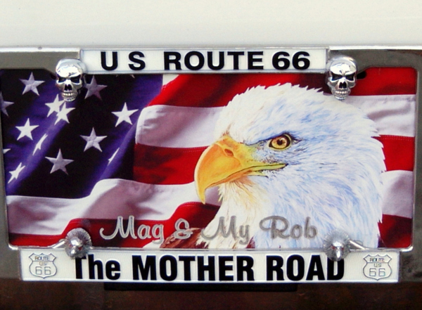 plate, route 66