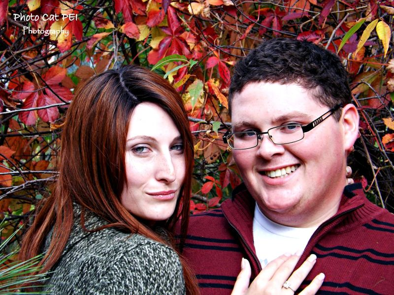Red Leaf Engagement Photos