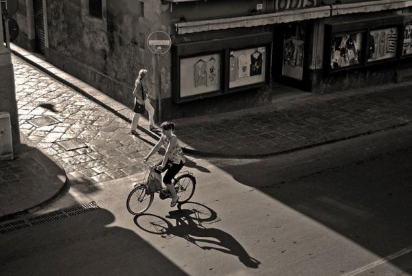 La diagonale du cycliste