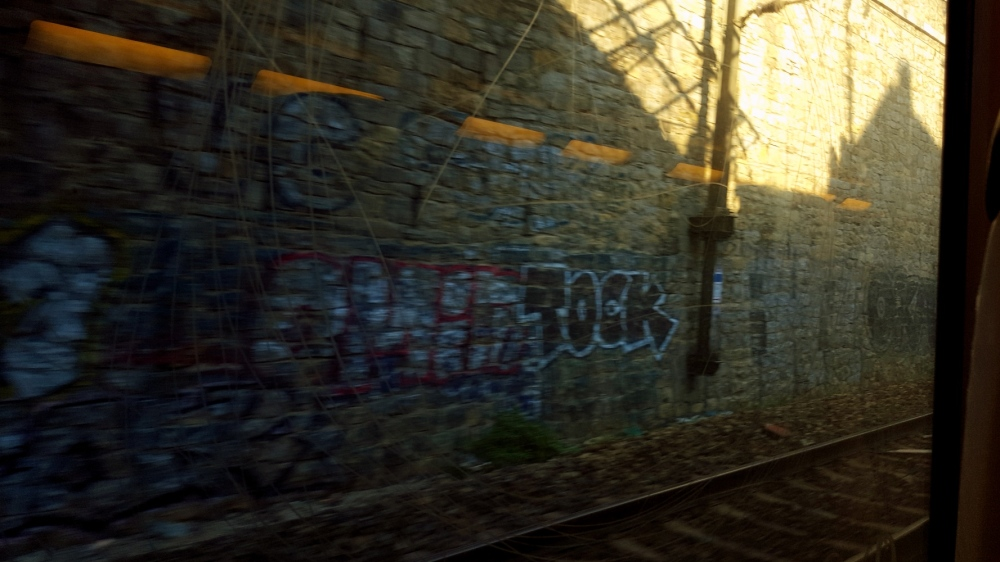 on the C train