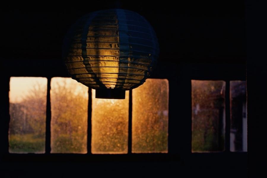soleil couchant à la lanterne