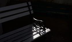 Fin d'après midi sur un banc