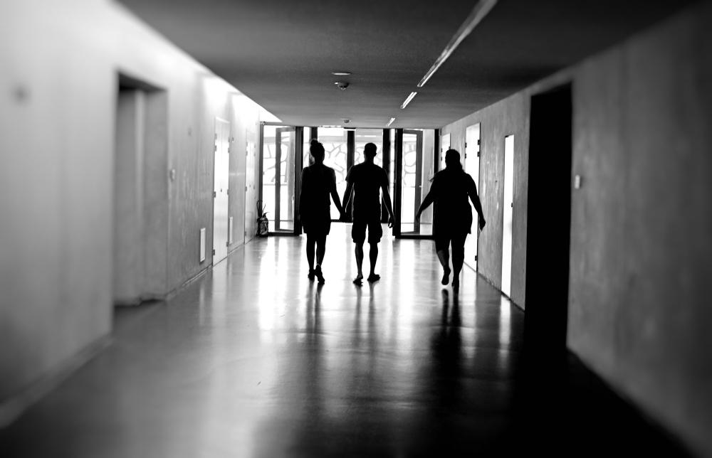 dans les couloirs du Mucem