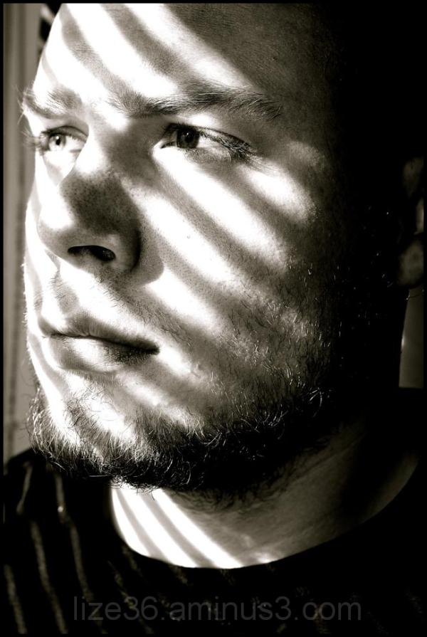 Playing with sunlight through window blinds