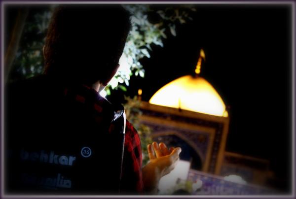 say pray.....دست دعا