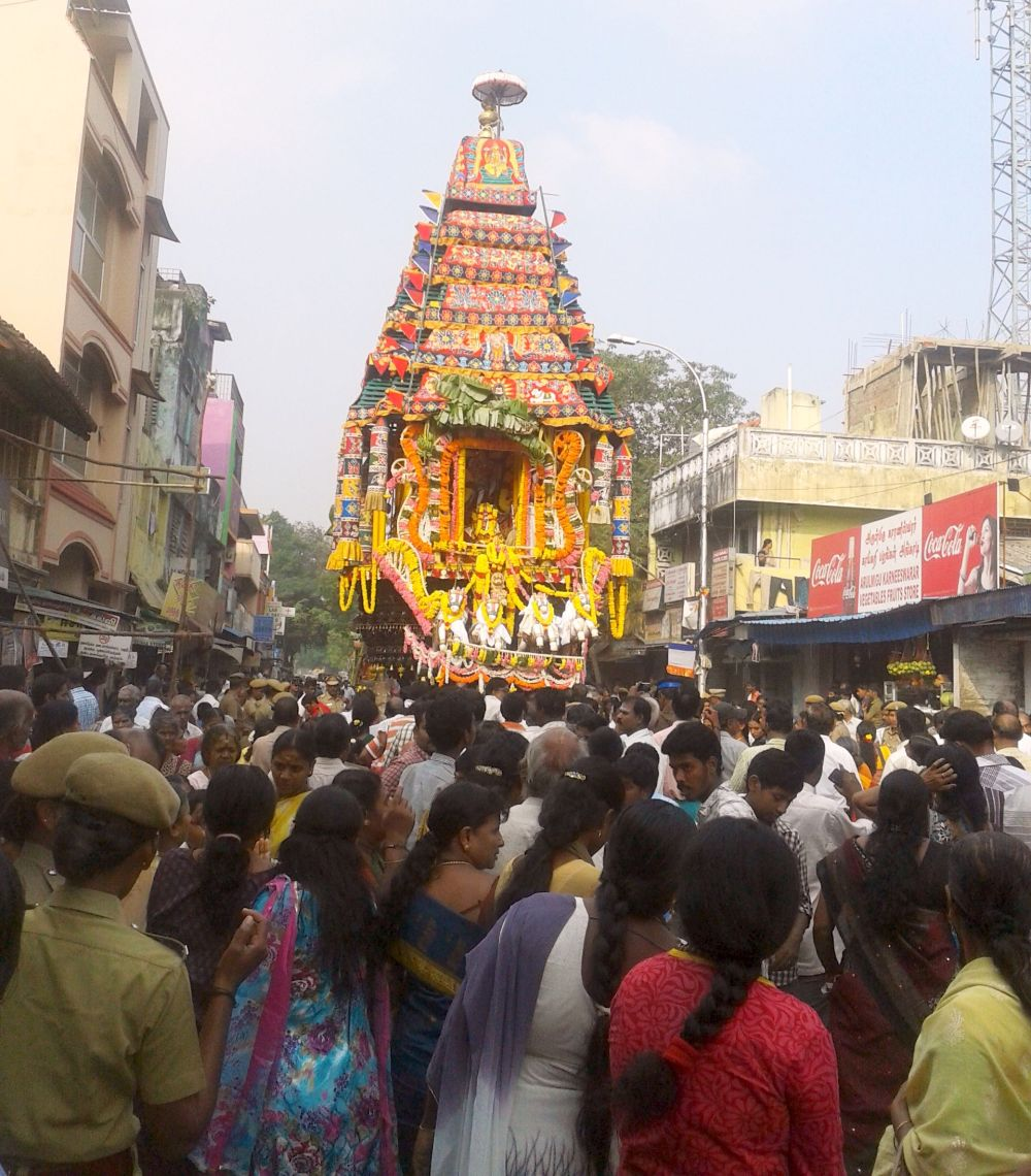 Car Festival Subramanya Swamy temple Chennai
