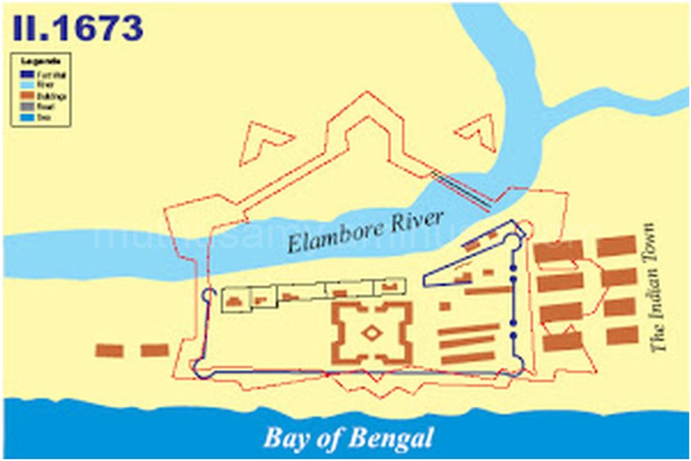 Evolution of Fort St.George 1673 (Col.DM.Reid)