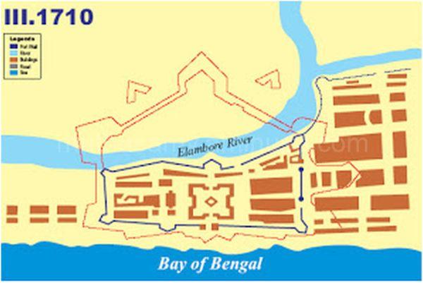 Evolution of Fort St.George 1710 (Col.DM.Reid)