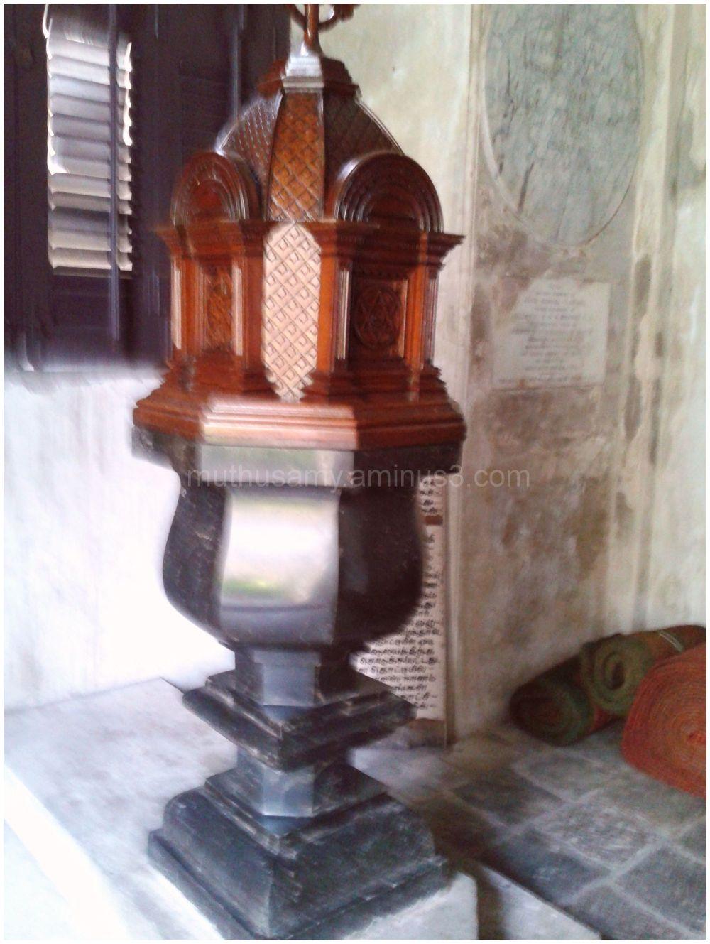 Charnokite Baptismal Font St.Mary's Church Chennai
