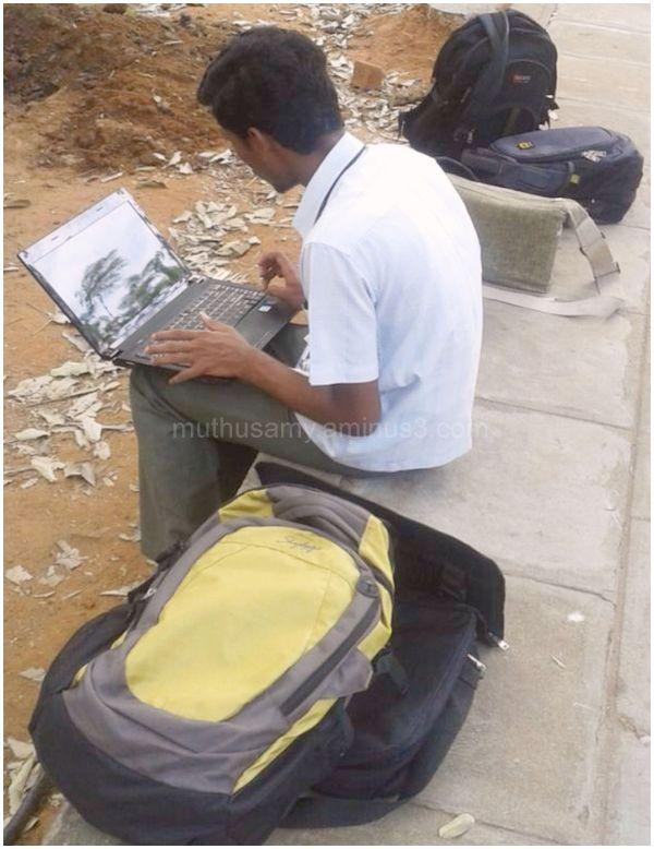 Laptop Geek at a Chennai College Campus