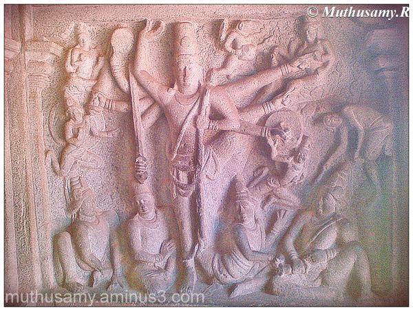 Trivikrama Panel, Vraha Cave, Mahabalipuram (5)
