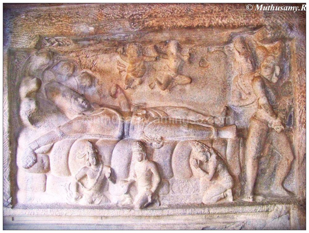 Anantasayana Panel, Mahishasuramardhini Cave (9)