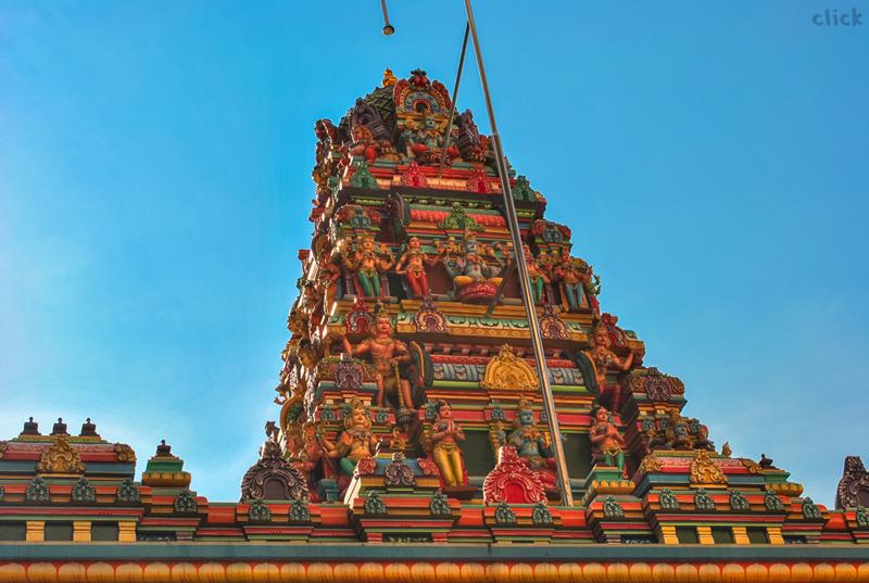 A temple gopuram