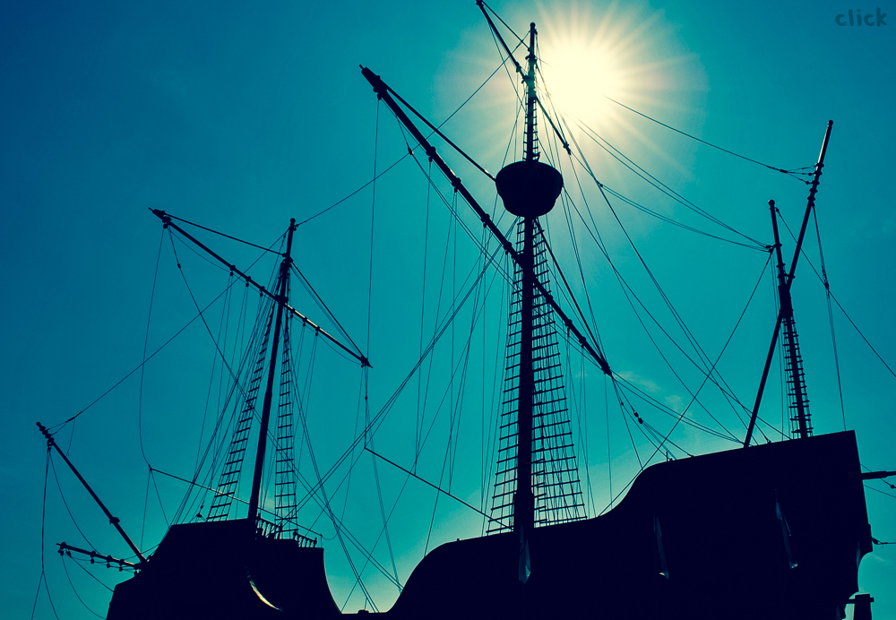 Silhouette of a ship