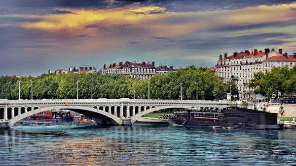 Quai du Rhône à Lyon