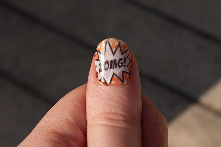 ZOMG!- nail art.