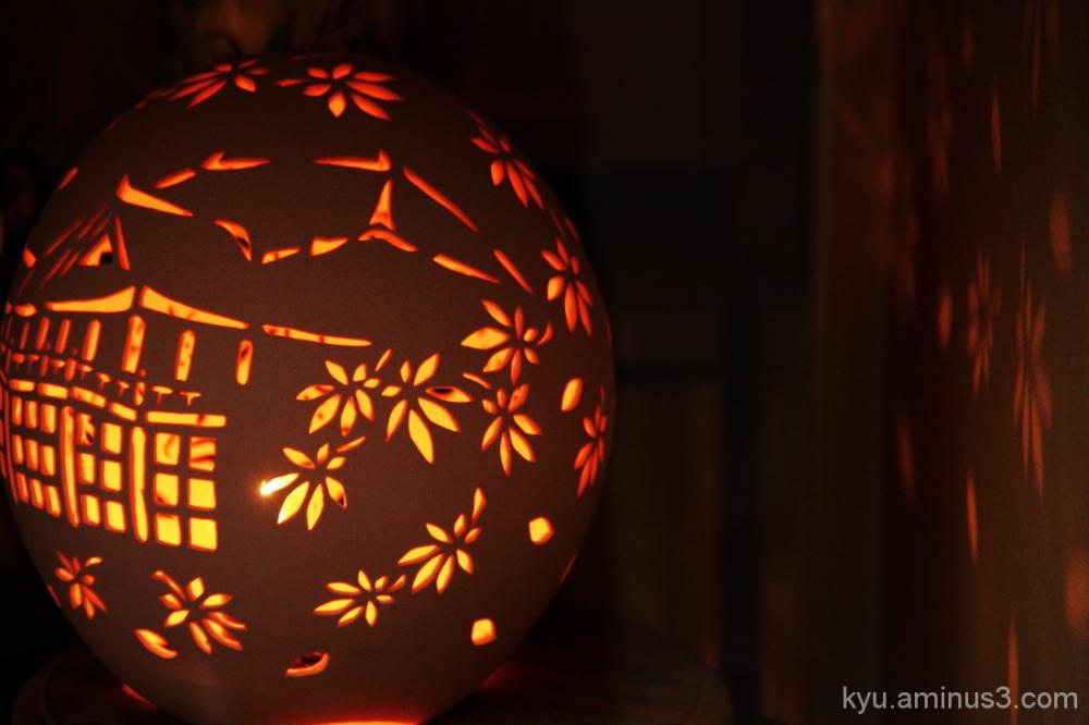 Landscape in the lantern