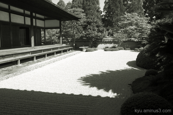 Dry garden in the temple