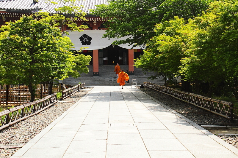 Approach to the main hall