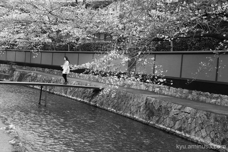 On a small bridge