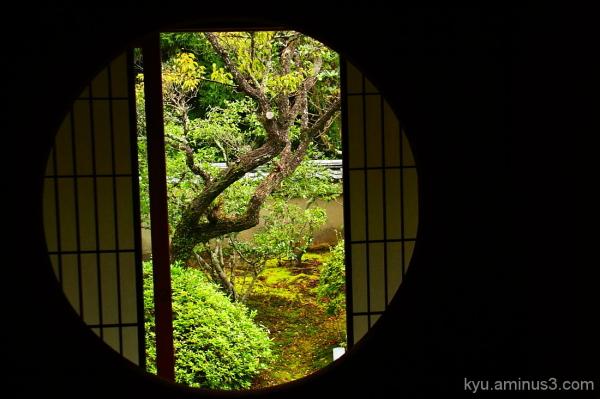 View through the round window