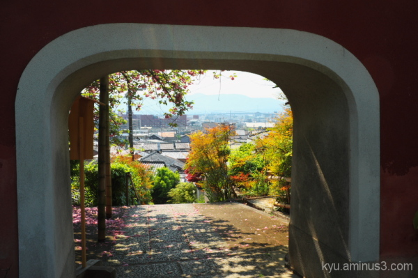 View from the gate at Sekihouin