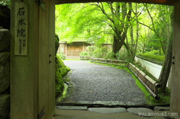 View from the gate at Kozanji