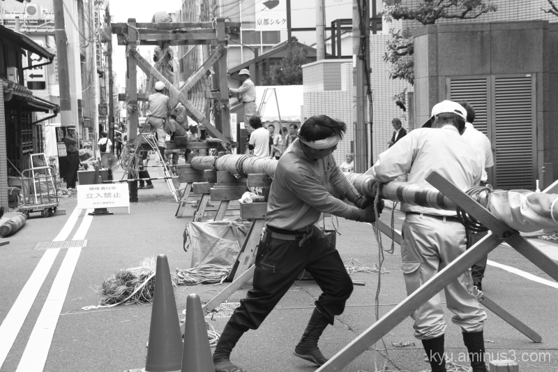 Building a big float of Gion Festival in Kyoto #1