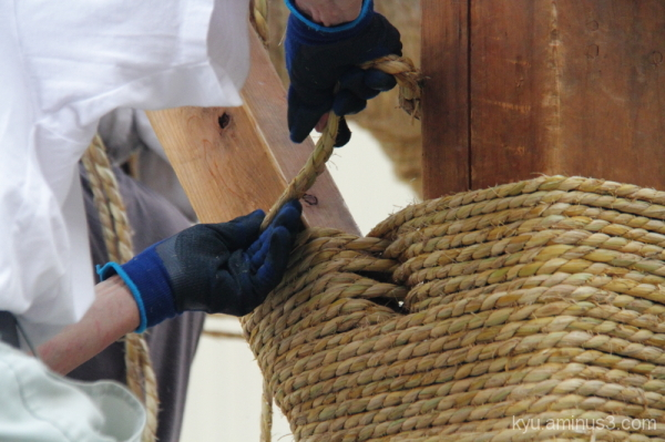 Building a big float of Gion Festival in Kyoto #2