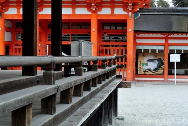 In Shimogamo Shrine