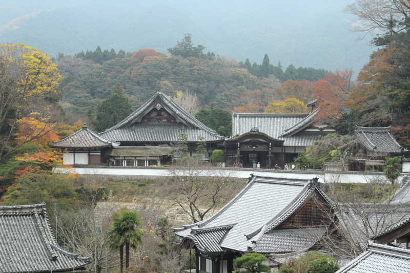 Temple with autumn colors