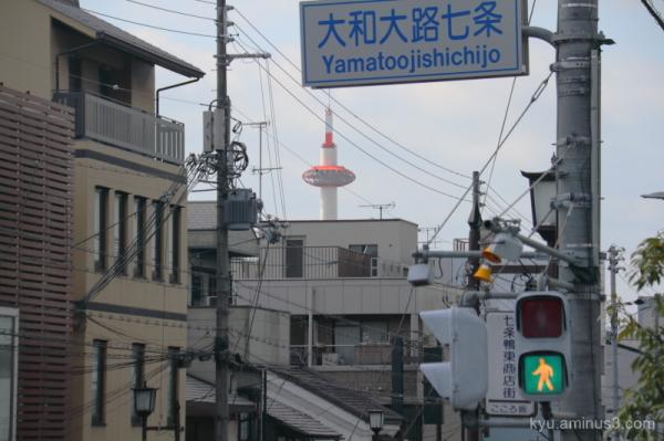 Kyoto-tower framing Kyoto
