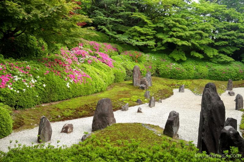 dry-landscape-garden azalea Komyoin temple Kyoto