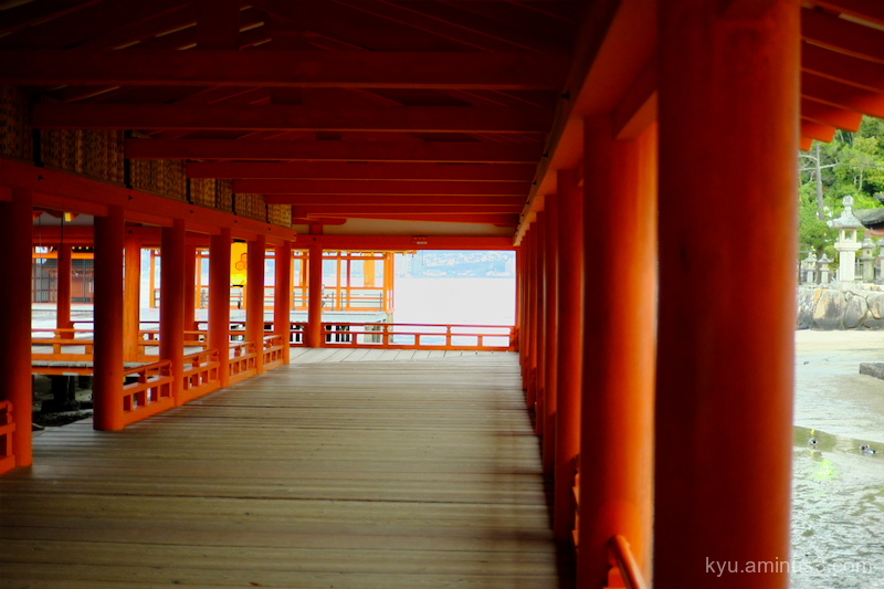 Morning Itsukushima-shrine Miyajima Hiroshima
