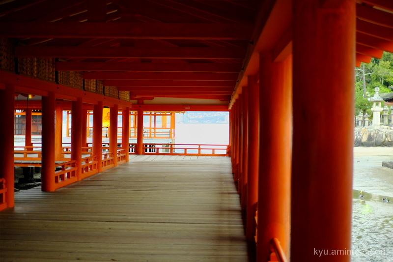 Morning Itsukushima-shrine Miyajima Hiroshima