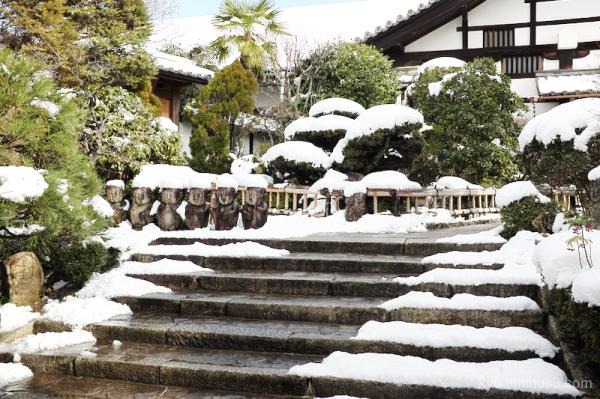 winter snow temple Tofukuji Kyoto