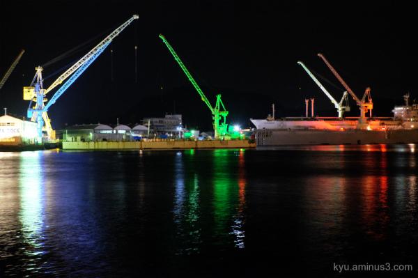 night Illumination port Onomichi Hiroshima
