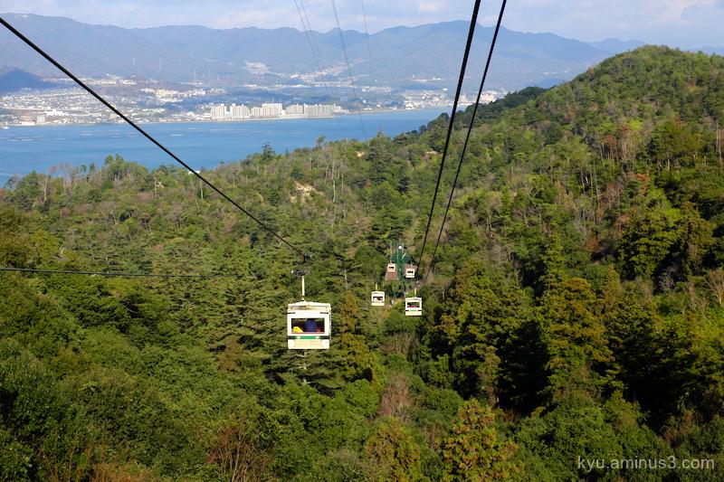 gondola ropeway Misen Miyajima Hiroshima