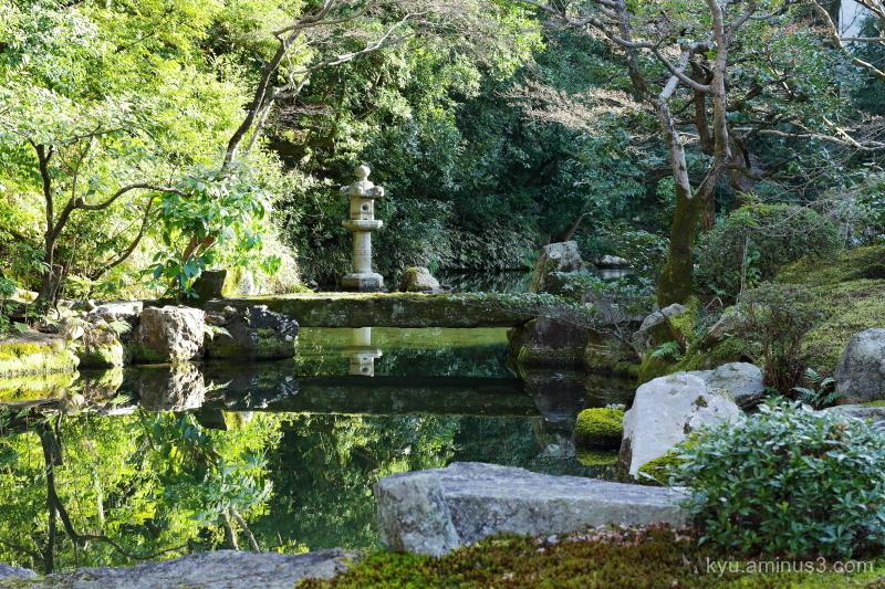 garden stone-lantern Chioin temple Kyoto