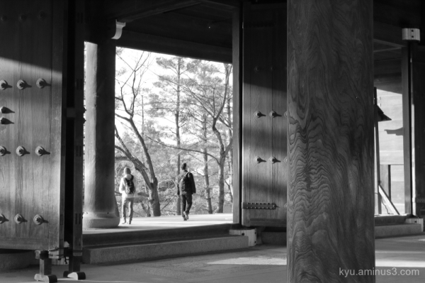 gate Chioin temple Kyoto mono