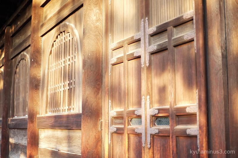 Late-afternoon-light Myoshinji temple Kyoto