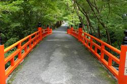 bridge vermilion Imakumanokannonji temple Kyoto
