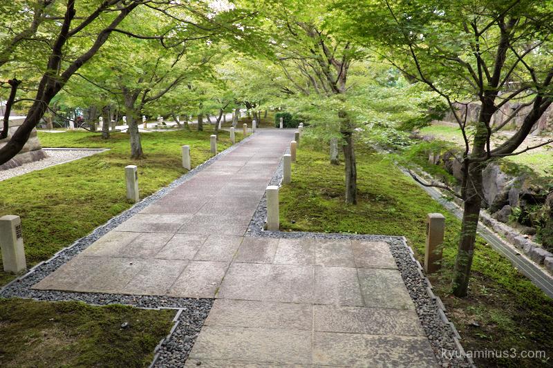 green-shade approach Chishakuin temple Kyoto