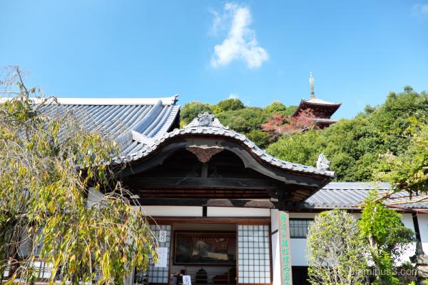 blue-sky Saigokuji Temple Onomichi Hiroshima