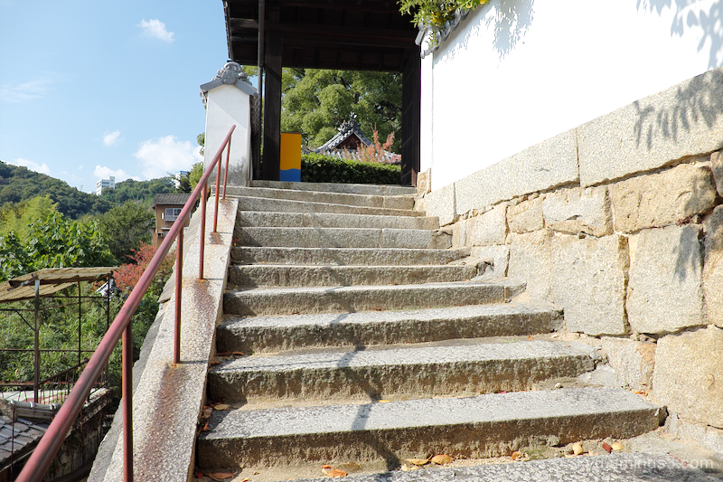 steps blue-sky temple Onomichi Hiroshima